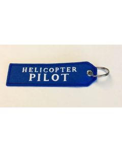 Helicopter Pilot Keychain- Blue