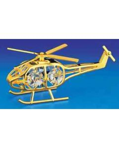 Gold Crystal Helicopter Ornament