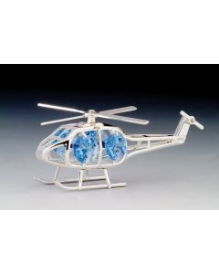 Silver Crystal Helicopter Ornaments
