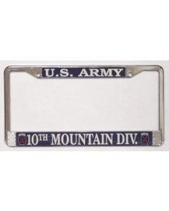 10TH MOUNTAIN DIV LICENSE PLATE FRAME