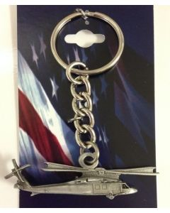PEWTER HELICOPTER KEYCHAINS