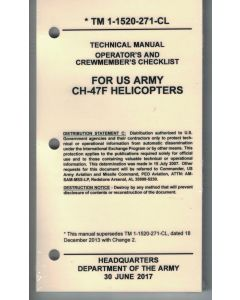 CH-47F Checklist- Water/Tear Proof Paper
