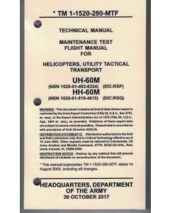 UH-60M MTF Checklist- Water/Tear Proof Paper