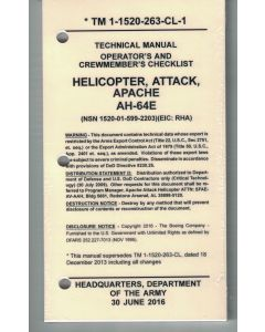 AH-64E Version 2 Checklist- Water/Tear Proof Paper