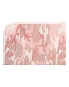 INFANT RECEIVING BLANKET- PINK CAMO