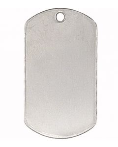 BLANK STAINLESS MILITARY DOG TAGS