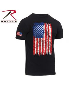 RWB US Flag T-shirt- Black
