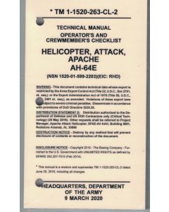 AH-64E Version 4 Checklist- Water/Tear Proof Paper