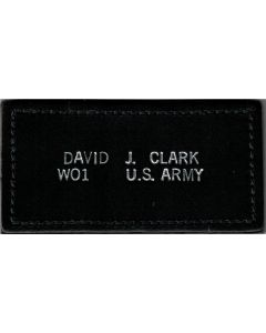 Leather Nametag with Stitching