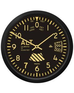 "Vintage 10"" Altimeter Wall Clock"