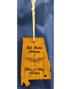 Alabama Aviation Wood Ornament