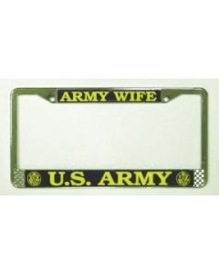 ARMY WIFE LICENSE PLATE FRAME