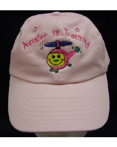 AVIATOR IN TRAINING EMB HAT- PINK