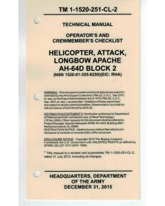 AH-64D Block 2 Checklist- Water/Tear Proof Paper