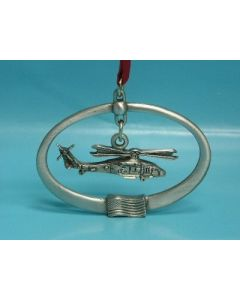 PEWTER HELICOPTER ORNAMENTS