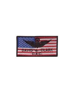 COLORED US FLAG EMBROIDERED NAMETAG