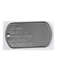 Stamped Dog Tags with Chain