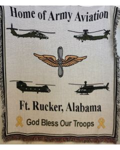 Army Aviation Tapestry Throw