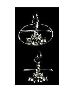 AH-64D Front View Charm- Sterling Silver