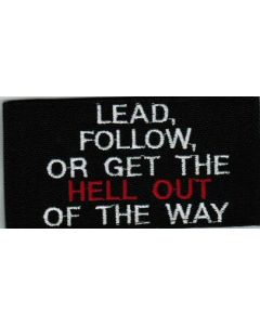 LEAD or FOLLOW PATCH
