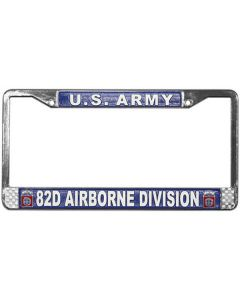 82ND AIRBORNE LICENSE PLATE FRAME