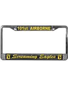 101ST AIRBORNE LICENSE PLATE FRAME