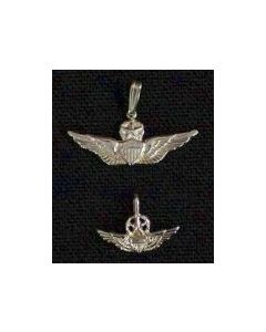 Master Aviator Wing Charm- Sterling Silver
