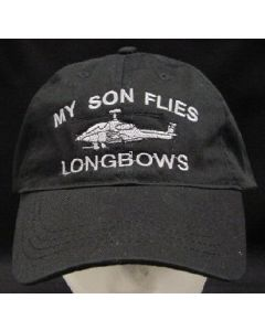 """MY SON FLIES LONGBOWS""- BLACK"