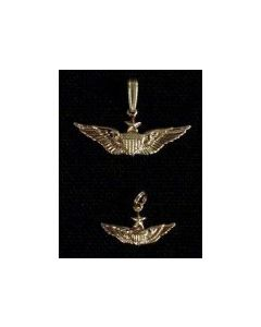 Senior Aviator Wing Charm- Gold
