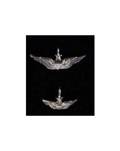Senior Aviator Wing Charm- Sterling Silver