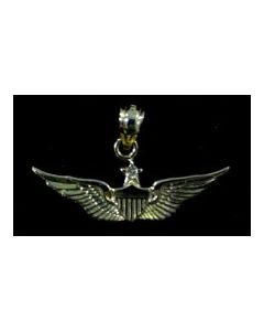 SENIOR AVIATOR WING CHARM WITH DIAMOND